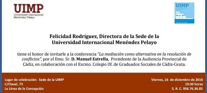 Conferencia del presidente de la Audiencia Provincial de Cádiz el 16 diciembre en La Línea