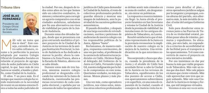 """Tribuna Libre de nuestro presidente: """"Ciudad de la Justicia: ya no hay excusas"""""""