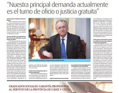Los Colegios Profesionales, hoy en Viva Cádiz, con entrevista a nuestro presidente